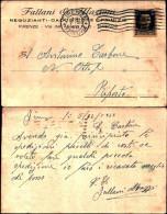 232)cart Post.viaggiata Sponsor Fallani E Mazzoni Cent.  30 Imperiale Da  Firenze A Riposto - Storia Postale