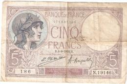 Billet 1000 Francs 14 Avril 1938 Billet Ayant Servi - 5 F 1917-1940 ''Violet''