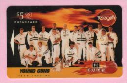 New Zealand - 1992 DB Beer - $5 NZ Cricket Team - NZ-A-2 - VFU - New Zealand