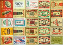 25 Alte Zündholzetiketten Aus Belgien #62 - Luciferdozen - Etiketten