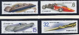 SOVIET UNION 1980 High-speed Car Construction Set Of 4 MNH / **.  Michel 4982-85 - 1923-1991 USSR