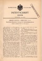 Original Patentschrift - Adrian & Busch In Oberursel , Taunus , 1895 , Sohlen - Nähmaschine , Schuster , Schuhmacher !!! - Maschinen