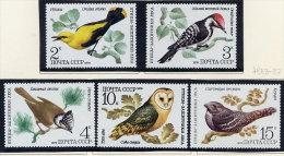 SOVIET UNION 1979 Woodland Birds Set Of 5 MNH / **.  Michel 4883-87 - Birds
