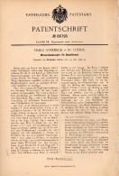 Original Patentschrift - Franz Averbeck In St. Tönis / Tönisvorst , 1895 , Wasserstandsregler Für Dampfkessel , Viersen - Máquinas
