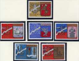 SOVIET UNION 1977 Moscow Olympics 1980: Cities Of The Golden Ring Set Of 6   MNH / **.  Michel 4686-91 - 1923-1991 USSR