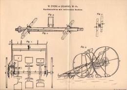 Original Patentschrift - W. Evers In Lianno / Lniano I. Westpr. , 1895 , Hackmaschine , Landwirtschaft , Agrar , Linne ! - Maschinen