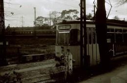 Railway Tram B/W Slide Strassenbahn Germany, Oberhausen 13-10-1968 62 - Trains