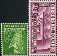 JA0181 Ecuador 1934 Telecom Emblem 2v MNH - Ecuador