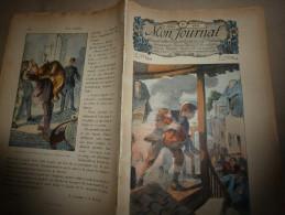 8.7.1911 MON JOURNAL :Couverture G. Dutriac ;La Casquette; Photographies AU BORD De MER ;Favori Du Vaisseau LA BACHANTE - Newspapers