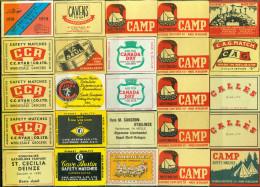 25 Alte Zündholzschachteletiketten Aus Belgien #16 - Luciferdozen - Etiketten