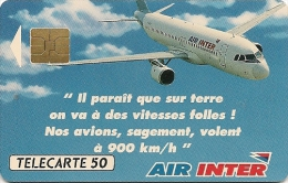 CARTE-PRIVEE-02/91-D590-50U-SO3-AIR INTER 2-N° Lot A113502-NEUVE-LUXE - France