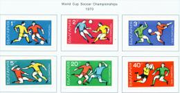 BULGARIA  -  1970  Football World Cup  Mounted Mint - Bulgaria