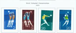 BULGARIA  -  1970  Volleyball  Mounted Mint - Bulgaria