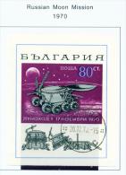 BULGARIA  -  1970  Moon Mission  Miniature Sheet  Used As Scan - Bulgarien