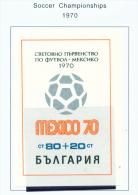 BULGARIA  -  1970  Football World Cup  Miniature Sheet  Unmounted Mint - Bulgaria