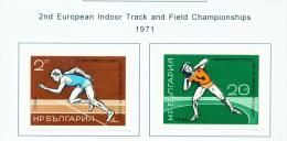BULGARIA  -  1971  Athletics  Mounted Mint - Bulgaria