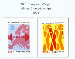 BULGARIA  -  1971  Weightlifting  Mounted Mint - Bulgaria