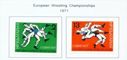 BULGARIA  -  1971  Wrestling  Mounted Mint - Bulgaria