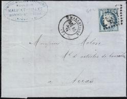 LAC  N° 60A GC 898 Cachet à Date De Charleville (Landes) Du 15 Novembre 1871 Pour Arras (Pas-de-Calais) - 1871-1875 Cérès