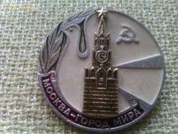 Insignia Moscú. URSS. CCCP. Rusia Comunista. Años ´60-´70 - Insignias