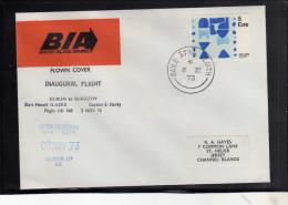 EIRE IRELAND IRLANDA 2 NOV 1973 FIRST FLIGHT DUBLIN GLASGOW BIA BRITISH ISLAND AIRWAYS UK 768  FDC COVER - FDC
