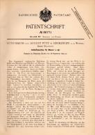 Original Patentschrift - Otto Barth Und A. Pütz In Leichlingen A.d. Wupper , 1895, Schleifmaschine Für Messer , Solingen - Maschinen