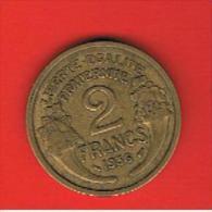 FRANCIA - FRANCE = 2  Franc  1936  KM886 - Francia