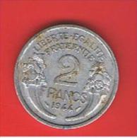 FRANCIA - FRANCE = 2  Franc  1944  KM886a1 - Francia