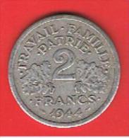 FRANCIA - FRANCE = 2  Franc  1944  KM904.1 - Francia