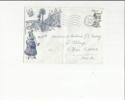 Enveloppe  Timbrée De Nice 06  De  Mr  J  Barray -Hotel Du Bourbonnais A Nice 06 En 1981 - Marcophilie (Lettres)