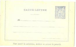 LBL5 - FRANCE EP CL SAGE 15c CARTON GRIS PIQUAGE C  NEUVE - Cartes-lettres