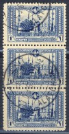 TURKEY Strip Of 3x1pi. Stamps With Bilingual Cancellation ALATCHATA 6.9.1916 - Usati