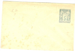 LBL5 - FRANCE EP ENVELOPPE SAGE 5c 116x76mm NEUVE  DEFAUTS - Postal Stamped Stationery