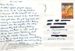 Auckland Skyline, New Zealand Postcard Used Posted To UK 2000 Nice Stamp - Nueva Zelanda
