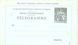 LBL5 - FRANCE EP CL CHAPLAIN 50c NOIR PIQUAGE CC 9 LIGNES AU VERSO DENT 11 1/2 NEUVE - Postal Stamped Stationery