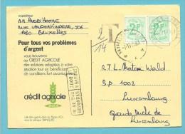 1671 Op Kaart Met Stempel BRUXELLES (Taxe) , Met Stempel TROUVE A LA BOITE / IN DE BUS GEVONDEN - 1951-1975 Heraldischer Löwe (Lion Héraldique)