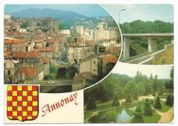 Multivues -ANNONAY -Ardèche (07) -Circulé 1981 - Annonay