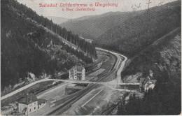 AK Bahnhof Gasthaus Lichtentanne Bad Leutenberg Bahnpost Bei Lobenstein Grünau Saalfeld - Lobenstein