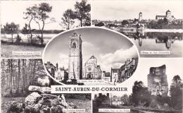 23491, Saint Aubin Cormier -35 -. Multi Vues Multivues -etang Eglise Fontaine Vieille Tour - Gaby - - France