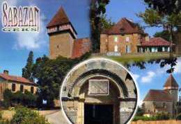 32  SABAZAN Place Du Vilage Chateau Porche Eglise Eglise St Jean Baptiste - Other Municipalities