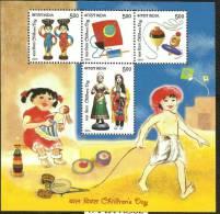 INDIA, 2010, Childrens Day,  Children´s, Set 4 V,  Miniature Sheet,  MNH, (**) - India