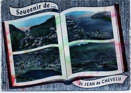 SAINT JEAN DE CHEVELU - Vue Générale. Le Petit Lac. Les Lacs Et La Dent Du Chat (façon Livre) - France