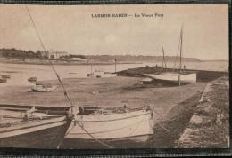 Carte Sépia  De 1934  LARMOR BADEN.   Le  Vieux Port, Avec BATEAUX - France