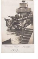 Deutsches Torpedoboot German Torpedo Boat B111 Kassar- Wick An Der Libauer Mole 18.10.1917 Orginalfoto 2 Scans - Guerra