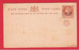 EAST INDIA   //  Entier Postal  //     VIERGE - Inde (...-1947)