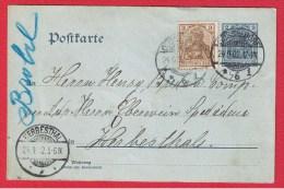 ALLEMAGNE //  ENTIER POSTAL  DE DUSSELDORF   //  POUR HERBESTHAL //  24/9/1902 - Stamped Stationery