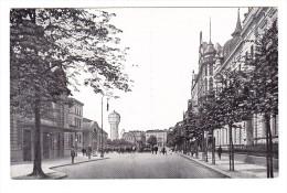 Kattowitz - Bahnhofstrasse Mit Neuem Wasserturm - Pologne