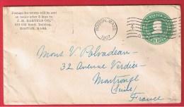 USA //  ENTIER POSTAL DE BOSTON  //  POUR MONTRONGE   //  1907 - ...-1900