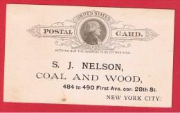 USA //  ENTIER POSTAL   //  POUR NEW YORK   // - ...-1900