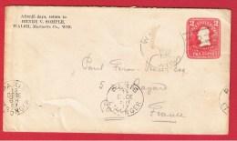 USA //  ENTIER POSTAL  DE WALSH  // POUR  PARIS   //  15 DEC 1907 - Postal Stationery
